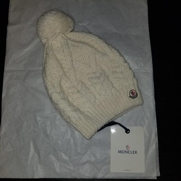 bbc60a82a8c Moncler 100% Virgin Wool Hat
